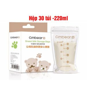 Túi trữ sữa Cm Bear 220ml (hộp 30 túi) giá sỉ
