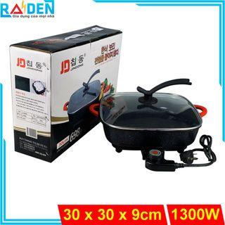 Nồi lẩu điện 5L Jindong JD-8830 kích thước miệng nồi 30 x 30 cm giá sỉ