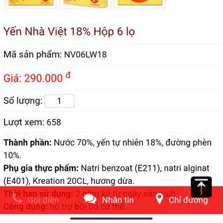 Yến sào nhà Việt 18% yến giá sỉ
