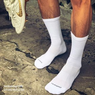 Tất đá bóng, thể thao feeture,s vớ dài chống trơn trượt nam nữ - tất dệt kim dày dặn, không lưu mùi loại cổ lửng giá sỉ