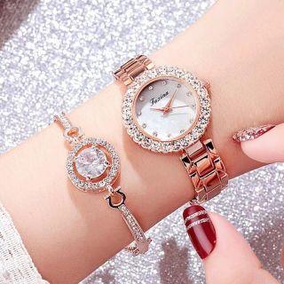 Đồng hồ nữ TAXINA (kèm lắc tay) giá sỉ