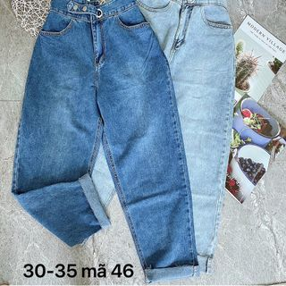 Quần baggy jean nữ đại lưng kiểu. -MS46 giá sỉ