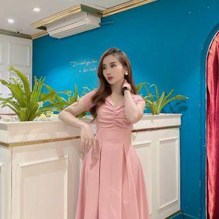 váy xinh cổ v giá sỉ