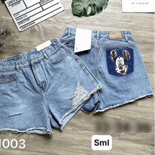 Quần short jean nữ MS1003 giá sỉ