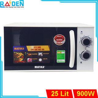 Lò vi sóng 25L Matika MTK-9225 có 3 chức năng: Nướng, hâm nóng, rã đông thức ăn tự cài đặt theo trọng lượng giá sỉ