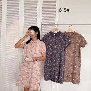 váy cổ đức dabgs suông hình hoạ tiết kute giá sỉ