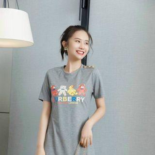 Đầm thun suông hoạ tiết gấu D98756- Kho sỉ giá sỉ