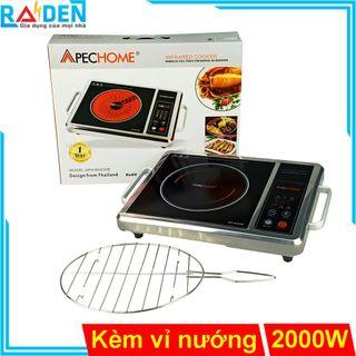 Bếp hồng ngoại 2000W Apechome APH-BQ230E tặng kèm vỉ nướng inox giá sỉ