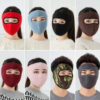 Khẩu trang Ninja lót nỉ bảo vệ mắt - Khẩu trang có kính che trán kín mặt dán gáy che kín tai chạy xe phượt nam nữ giá sỉ