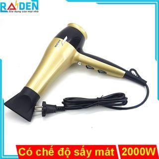 Máy sấy tóc 2000W Matika MTK-3315 chỉnh nhiệt độ và tốc độ gió riêng, có chế độ sấy mát giá sỉ