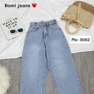 Quần baggy jean nữ lưng cao kiểu Ms3062 giá sỉ