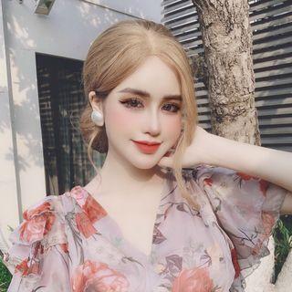 Đầm hoa tơ m02 giá sỉ