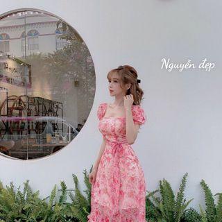 váy hoa tơ đẹp giá sỉ