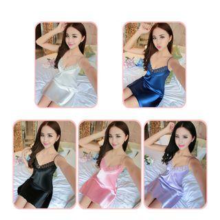 Váy Ngủ Vải Phi Lụa Bóng 748 giá sỉ