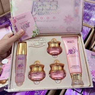 Bộ hoàng cung hồng 5 món giá sỉ