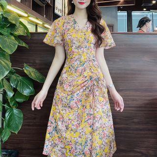 váy hoa rút eo giá sỉ
