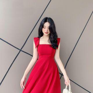 váy dáng dài cổ vuông giá sỉ