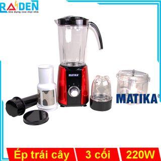 Máy xay ép đa năng 220W Matika MTK-3121 có lưới lọc mịn lấy nước ép trái cây giá sỉ