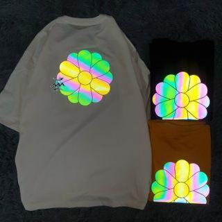 Áo thun phản quang 7 màu bông hoa giá sỉ