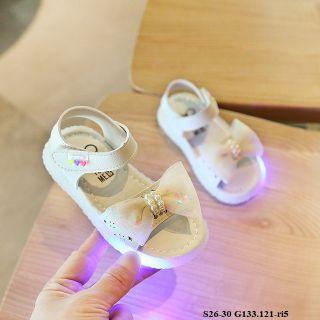 Dép đèn nơ trắng S26-30 G133.121-ri5 giá sỉ