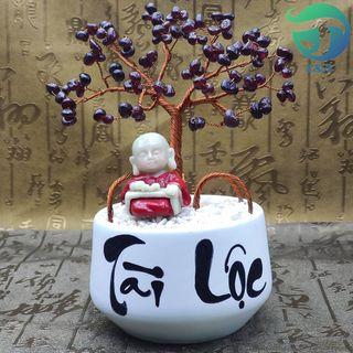 Cây Hoa Đá Garnet Tự Nhiên Cỡ Nhỏ Làm Đẹp Không Gian Phòng Bạn giá sỉ