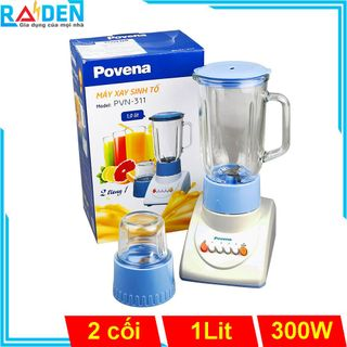 Máy xay sinh tố 350W Povena PVN-311 có cối xay khô giá sỉ