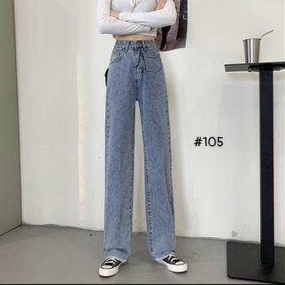 Quần baggy jean nữ lưng cao bigsize Ms10507 giá sỉ