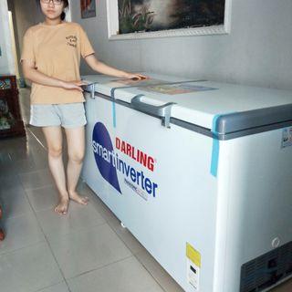 tủ đông darling dmf-4799asi inveter tiết kiệm điện 450 lít 1 ngăn đông suốt giá sỉ