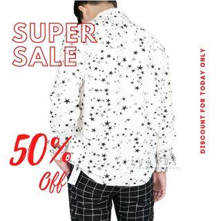 Áo sơ mi nam form fit vải nhập Hàn Quốc không nhăn hình ngôi sao (Hàng thiết kế - Zuhaus) giá sỉ