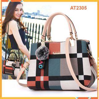 Túi xách nữ AT2305 cao cấp - Da Pu - to, ngăn chứa rộng rãi giá sỉ