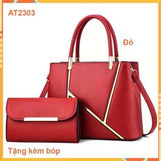 Túi xách nữ AT2303 cao cấp - phong cách trẻ trung,sành điệu- tặng kèm bóp nhỏ giá sỉ