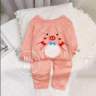 Bộ quần áo trẻ em - thun lạnh mặt thú giá sỉ