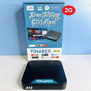 Android Tivi Box Vinabox A15 Ram 2G Rom 16GB, Android 10.0 (2021) giá sỉ