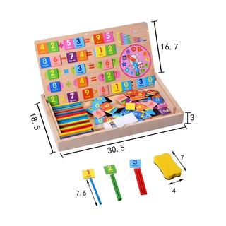 Bảng toán học thông minh chữ số kèm que tính bằng gỗ giá sỉ