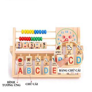 Đồ chơi kệ gỗ chữ số bảng học chữ cái thông minh giá sỉ