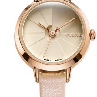 Đồng hồ nữ JA-979C Julius Hàn Quốc dây da (hồng) giá sỉ