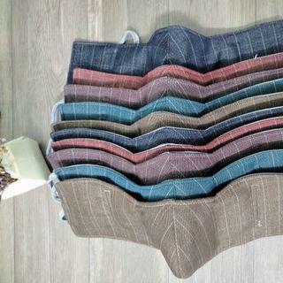 Combo 10 khẩu trang vải che tai dày 3 lớp chống nắng, chống bụi giá sỉ
