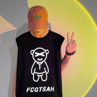 Áo thun ba lỗ phản quang bạc gấu FCGTSAH chất cotton 4 chiều dày mịn giá sỉ