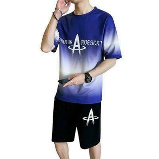Đồ bộ mặc nhà dạo phố chất thun lạnh in 3D loang chữ A không lem màu giá sỉ