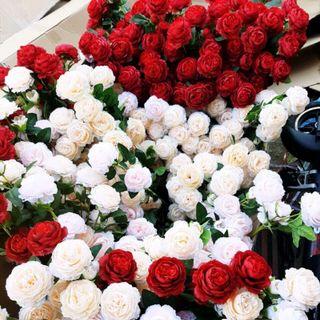 hoa lụa chơi tết giá sỉ