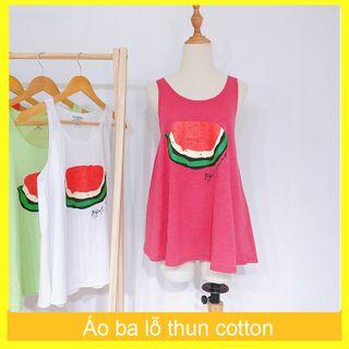 Áo thun 3 lỗ cotton in hình dưa hấu freesize dưới 60kg giá sỉ