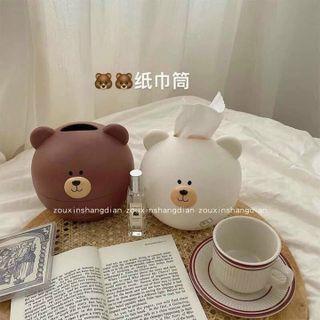 Hôp đựng giấy gấu lợn cute giá sỉ