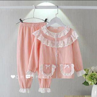 Bộ quần áo trẻ em - bộ pijama thô muslin giá sỉ