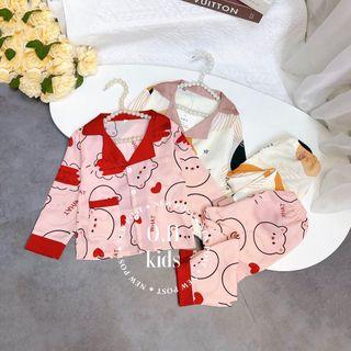 Bộ đồ trẻ em - bộ pijama lụa nhí giá sỉ