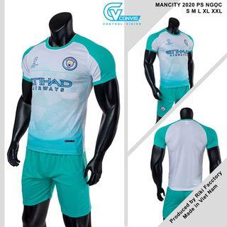 Quần áo bóng đá vải mè Man City giá sỉ