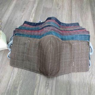 Khẩu trang vải che tai cao cấp dày 3 lớp chống nắng, kháng bụi giá sỉ