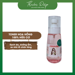 Nước hoa hồng (toner) nước cân bằng da sáng da, dưỡng ẩm thiên nhiên handmade Thuần Diệp. giá sỉ
