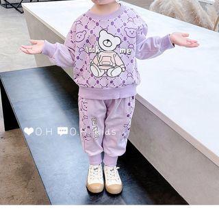 Bộ đồ trẻ em - bộ cotton bén gái gấu sz nhí giá sỉ