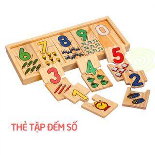 Thẻ học đếm số gỗ thông minh giá sỉ