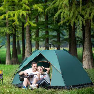 Lều cắm trại tự bung 2 cửa size to 4 6 người khung chắc đi phượt picnic dã ngoại du lịch thiên nhiên (2x2x1,5)M giá sỉ